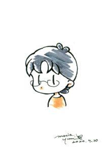 西川アメ自画像デフォルメ
